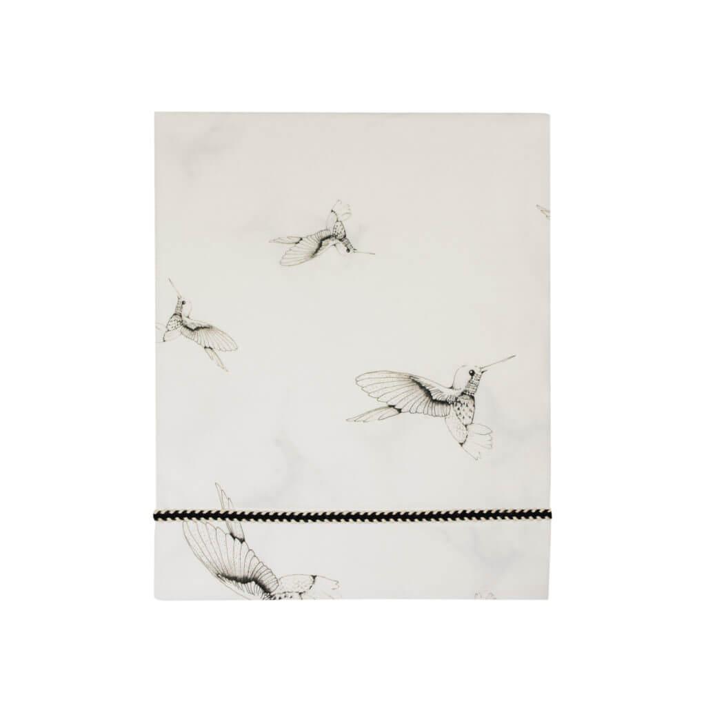 Mies & Co wieglaken Cloud Dancers offwhite sheet wit kolibrie print vogels