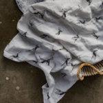hydrofiele doek met vogelprint